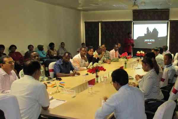 25 देशों के प्रतिनिधियों ने जयपुर मेट्रो की कार्यप्रणाली देखी