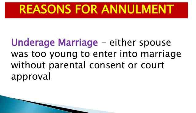 underage marriage annulment