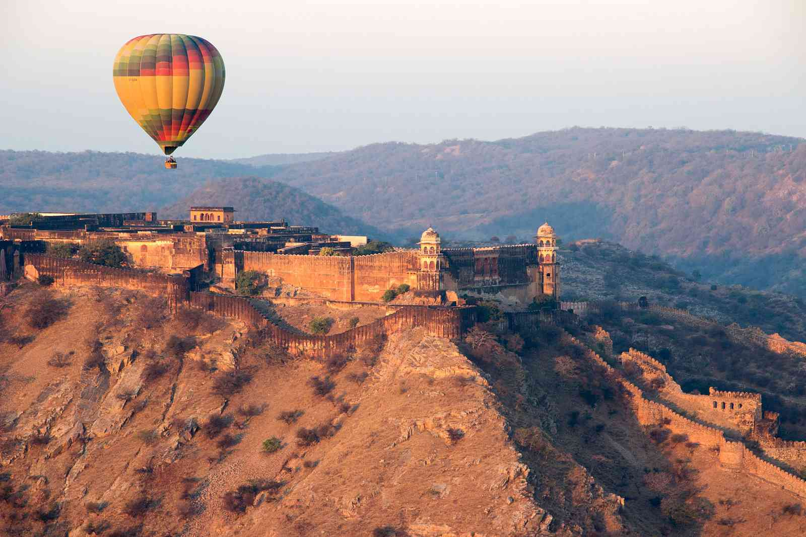 Hot Air Balloon over Amer Fort