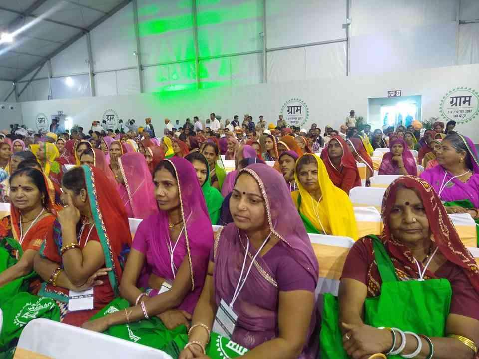 Women attending the Global Rajasthan Agritech Meet