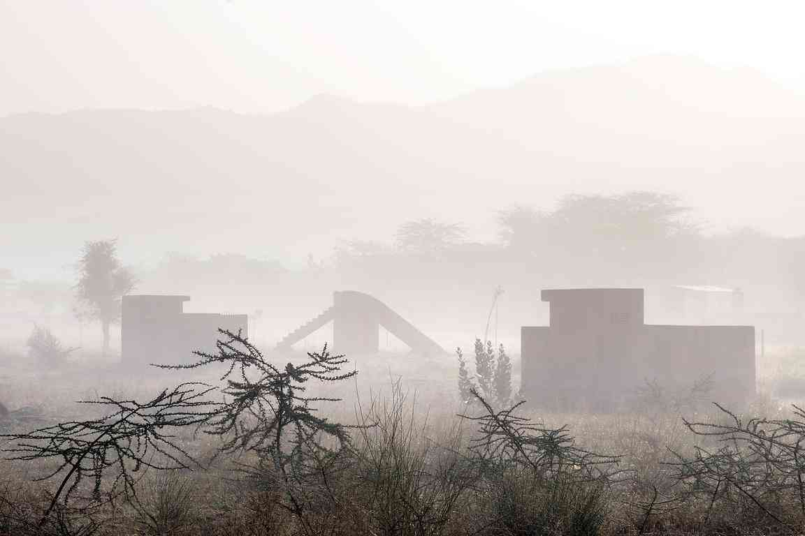Misty morning in Rajasthan