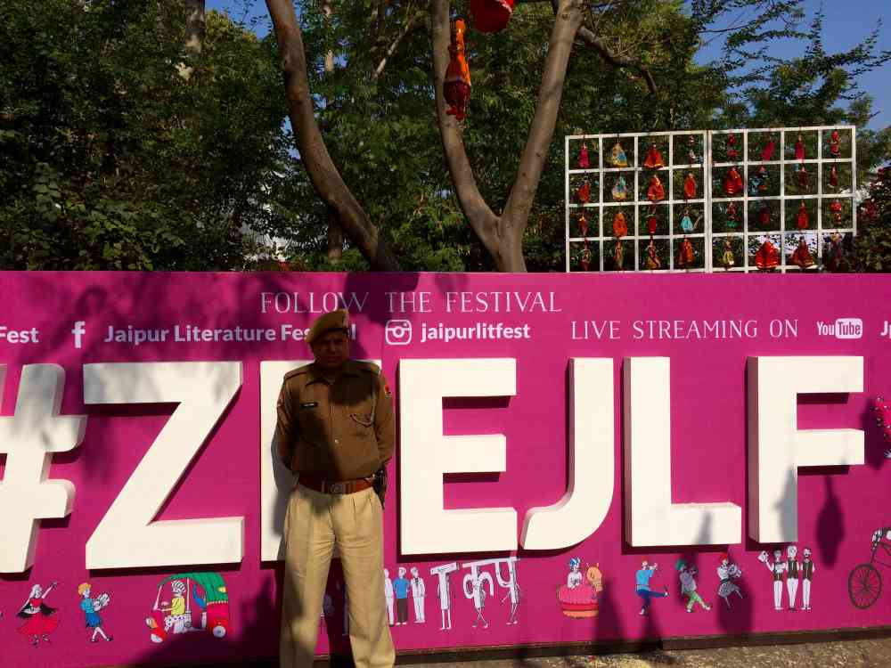 Security at Zee JLF [File Photo]