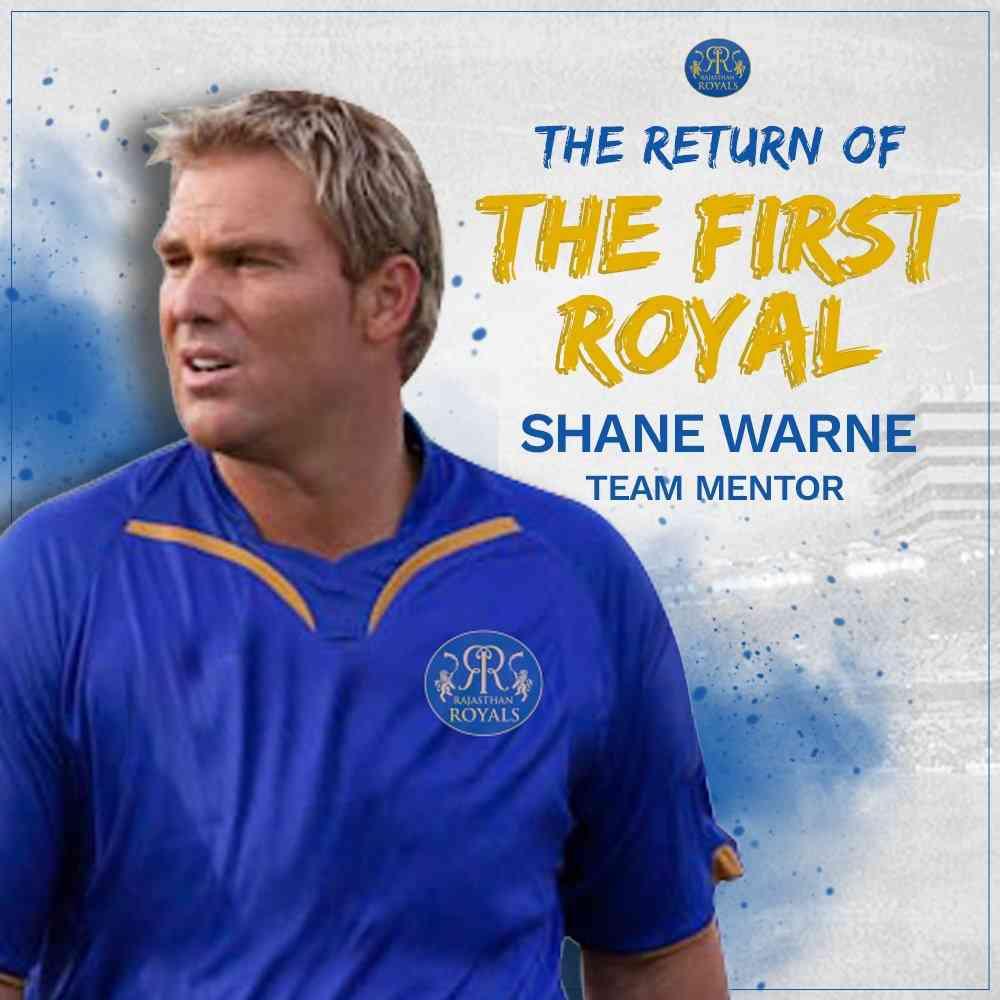 Shane Warne, Mentor, Rajasthan Royals