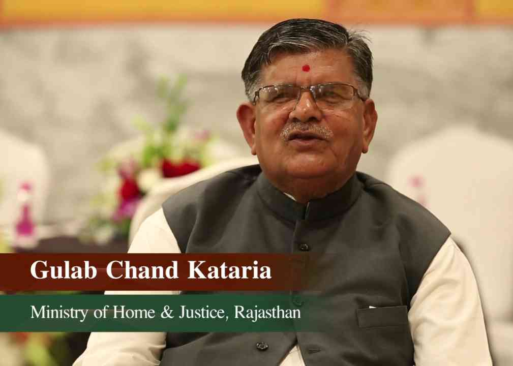 Home Minister of Rajasthan, Gulab Chand Kataria