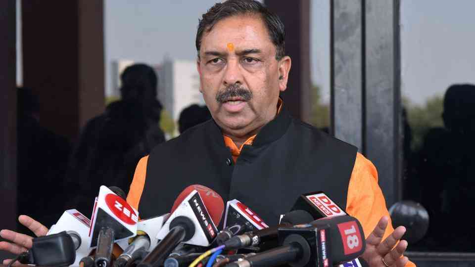 Social justice and empowerment minister Arun Chaturvedi