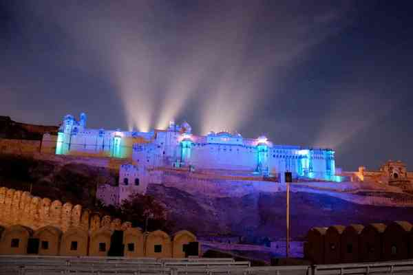 amer fort night tourism