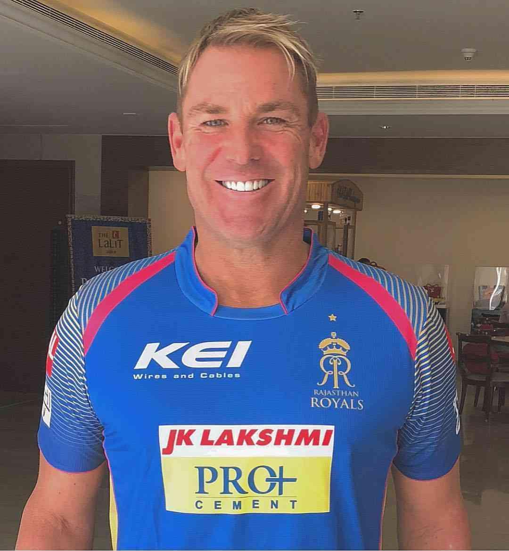 rajasthan royal new jersey mentor shane warne