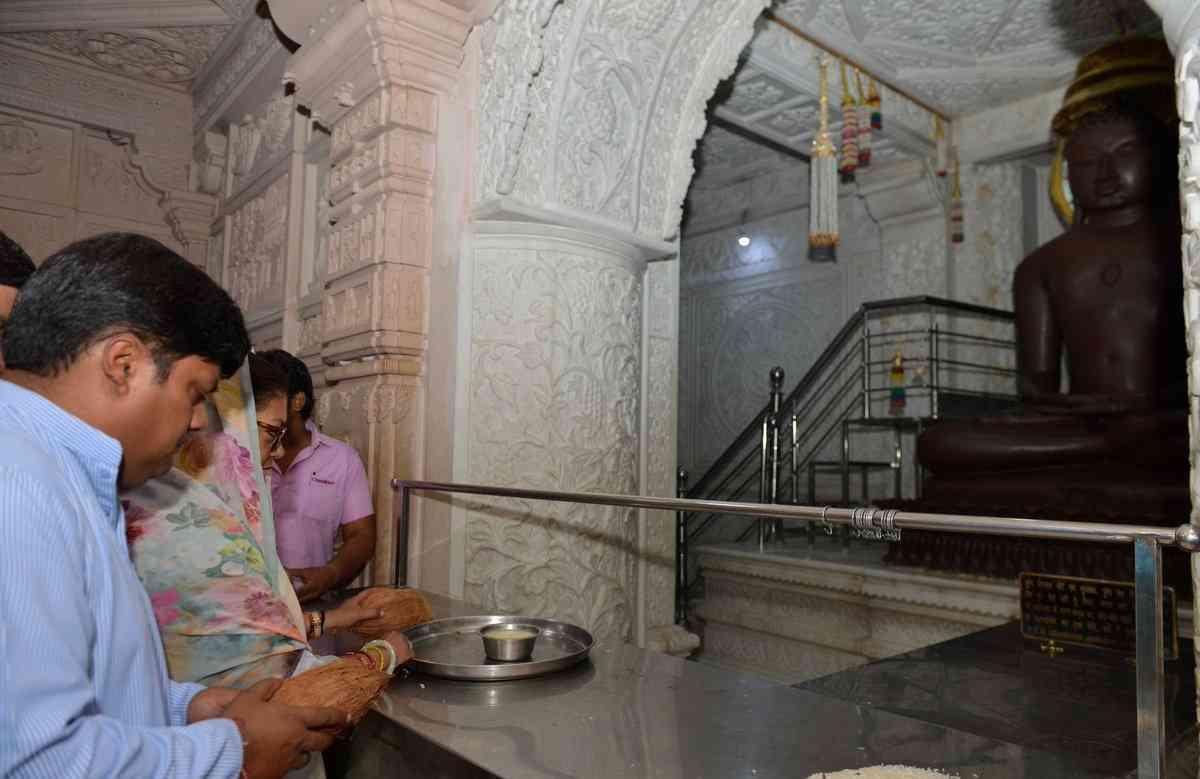 chief minister vasundhara raje jhalawar chandkhedi digambar jain temple bhagwan adinath