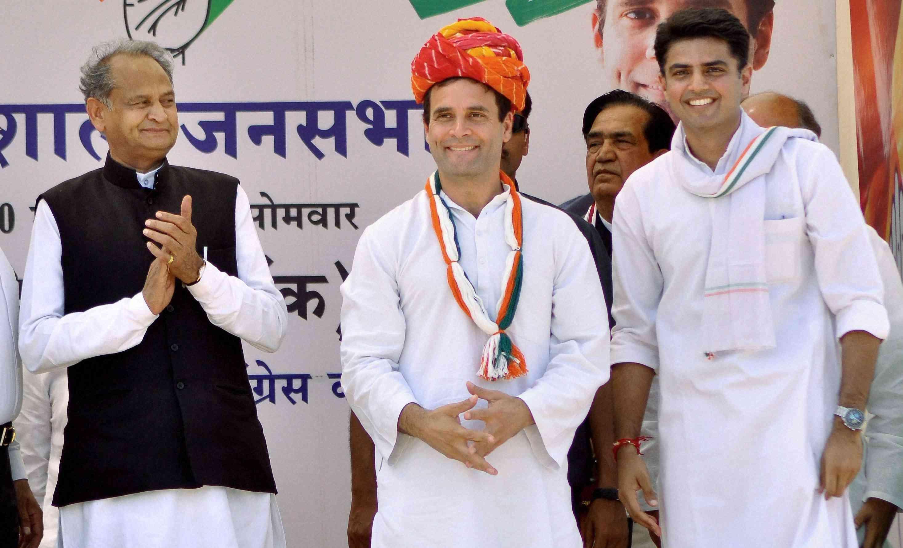 Rajasthan Congress Rahul Gandhi Sachin Pilot Ashok Gehlot