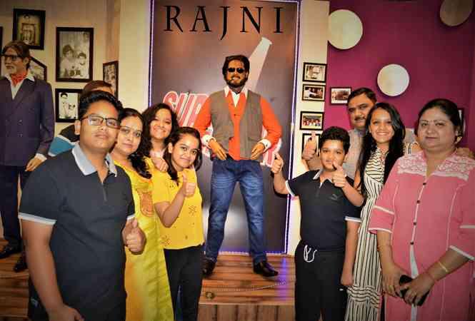 Wax Statue of Rajnikanth at Jaipur Wax Museum