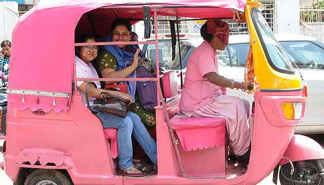 Pink Auto in Rajasthan