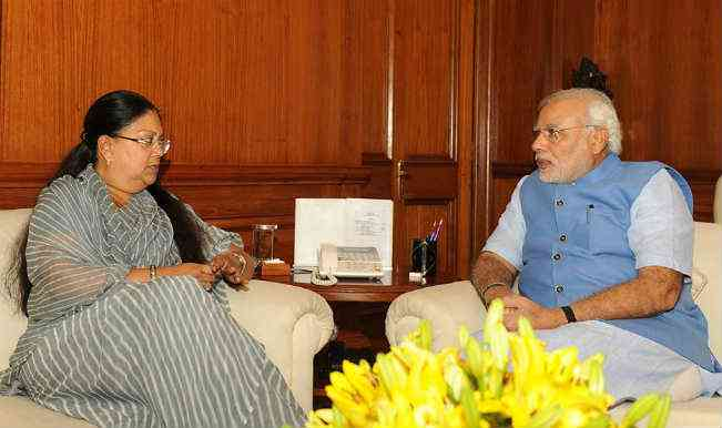 PM Narendra Modi and Rajasthan CM Vasundhara Raje
