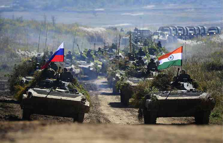 India-Russia war exercise