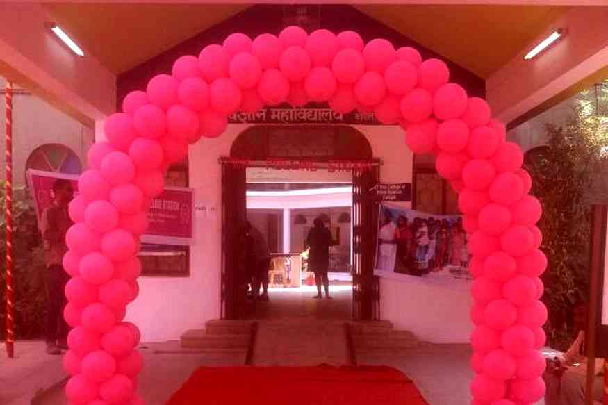 Pink Polling Booth for female voters