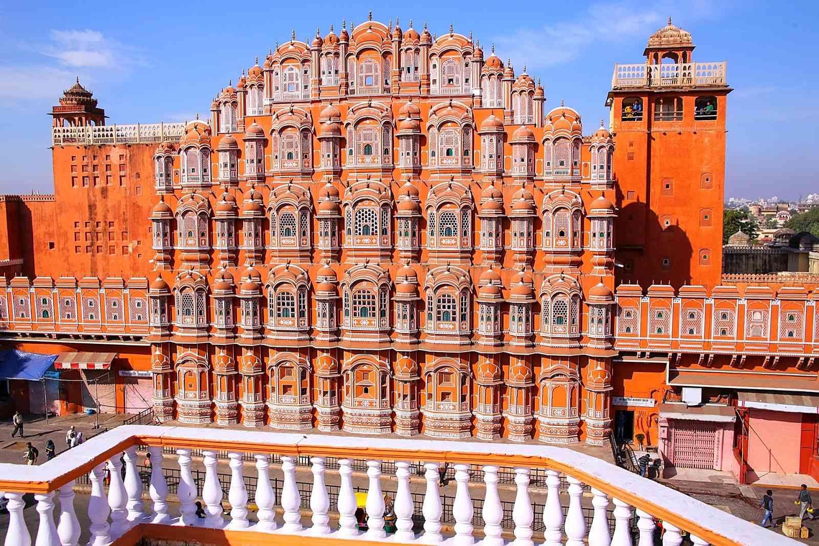 Rajasthani Pink sandstone of UAE Temple