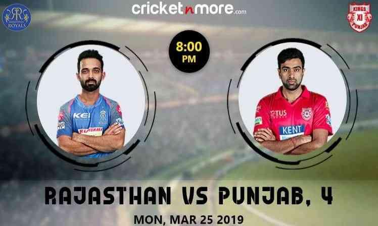 Rajasthan Royals vs Kings XI Punjab in Jaipur.