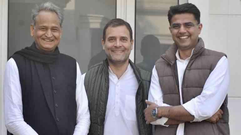 Ashok Gehlot, Rahul Gandhi, Sachin Pilot