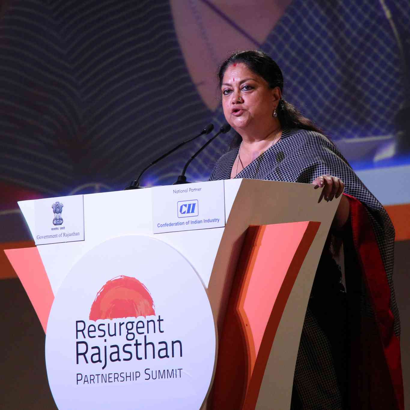 CM Vasundhara Raje at Resurgent Rajasthan Partnership Summit