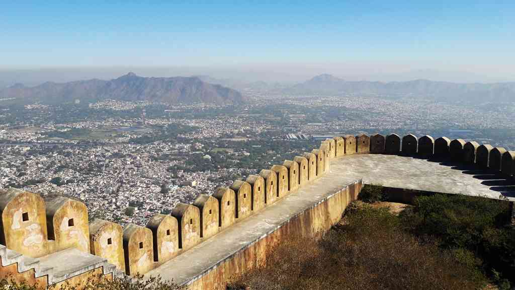 bird's eye view of Ajmer city from Taragarh Fort