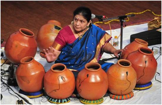 Earthen pots Carnatic music