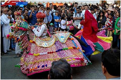 Folk performers Kachchi Ghodi