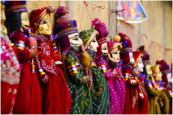Rajasthani wooden marionettes