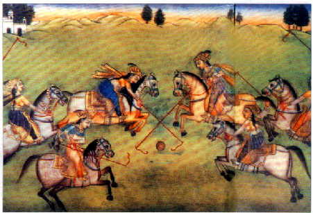 Rajput Princesses playing Chougan Polo