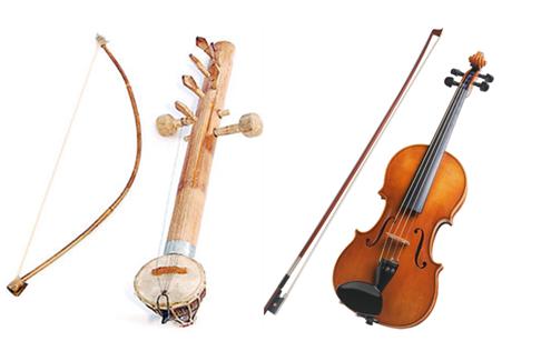 Comparison Ravanhatta Violin