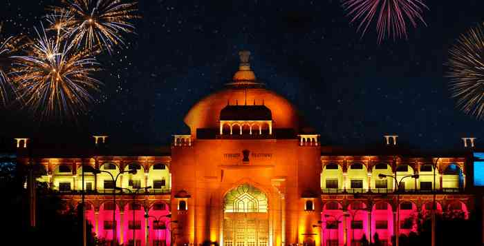 Vidhan Sabha during Festive celebration