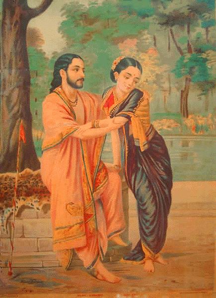 arjun subhadra oil painting raja ravi verma