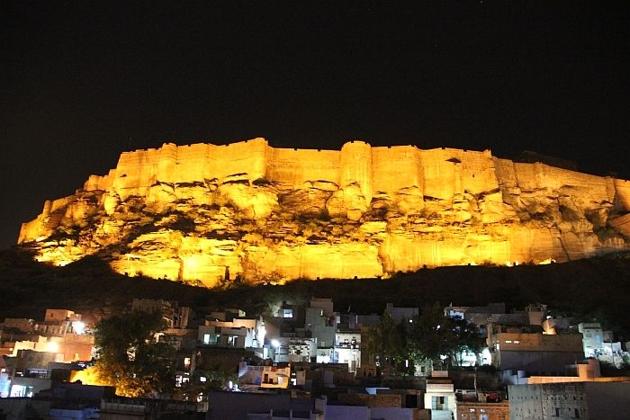 Mehrangarh fort night