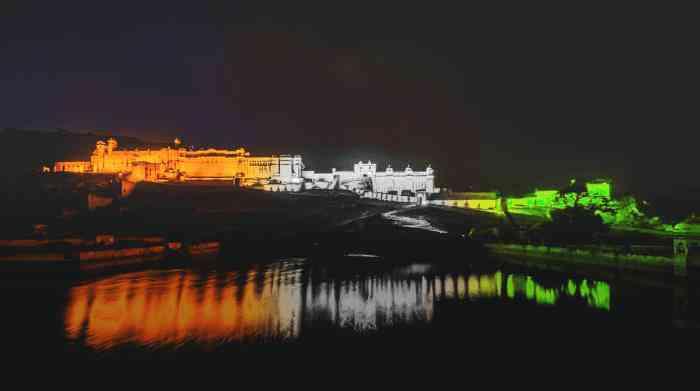 Amer Fort lit up in Tri Color