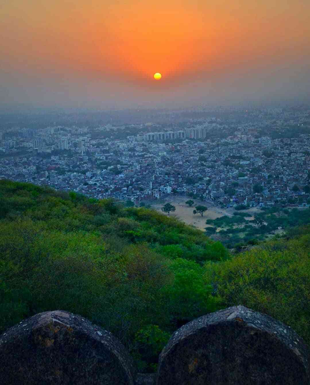 view of Jaipur from Nahargarh