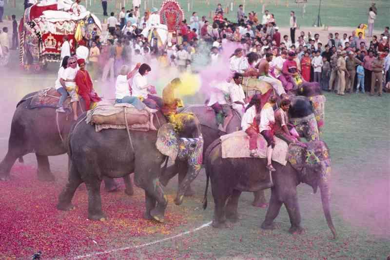 Elephant Holi (EleHoli Fest) in Jaipur