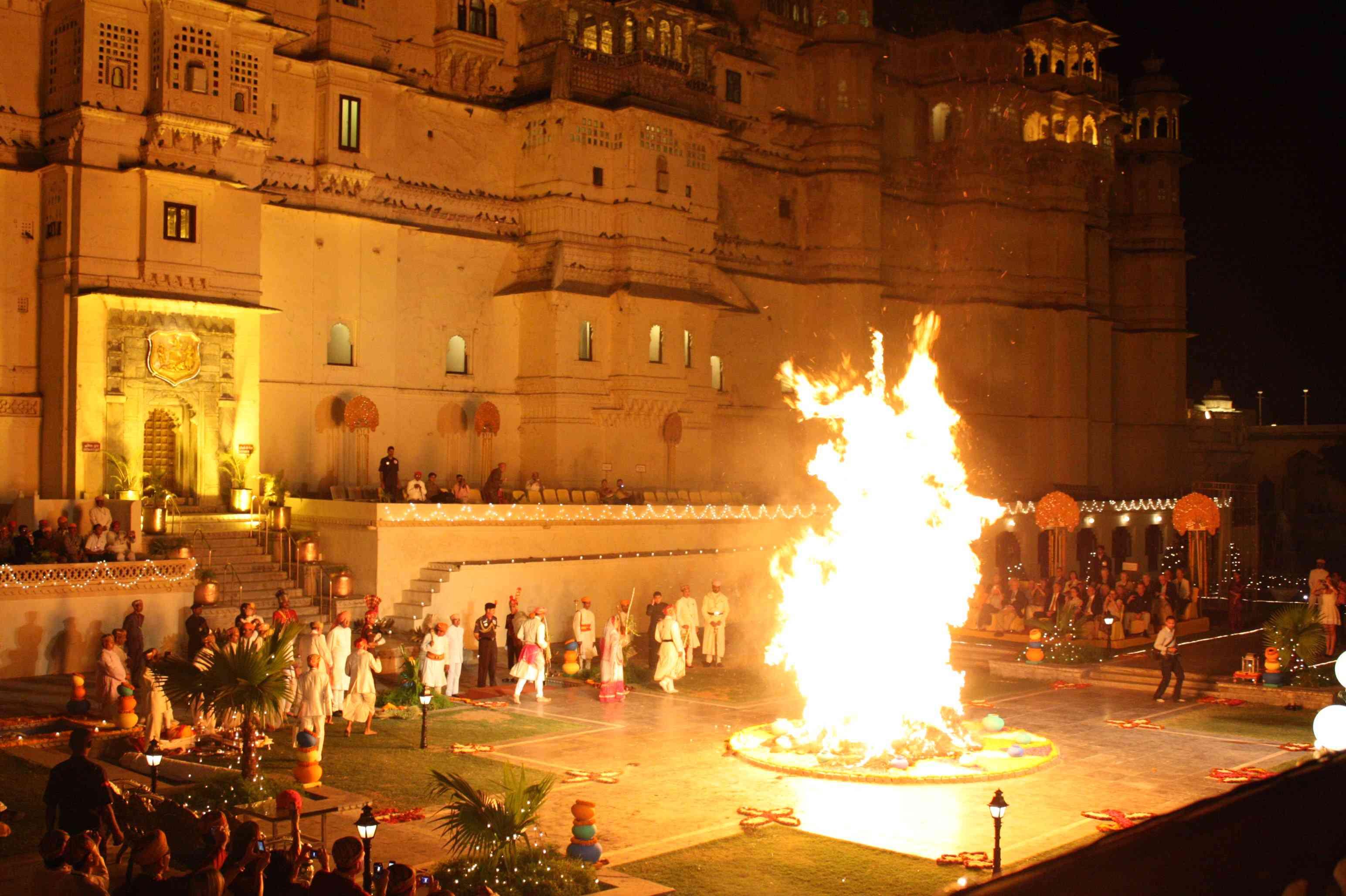 Holika Dehan in Udaipur