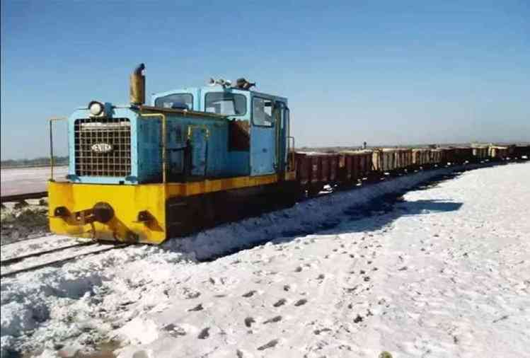 Only train in the country which run on lake