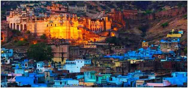 Mehrangarh over the blue city Jodhpur