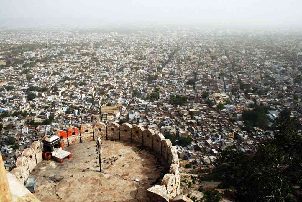 Jaipur view Nahargarh Fort