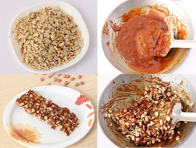 Mungfali Chikki recipe