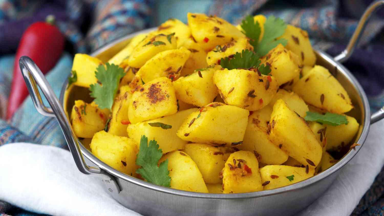 Jeera Aloo aka Potatoes with Cumin Seeds
