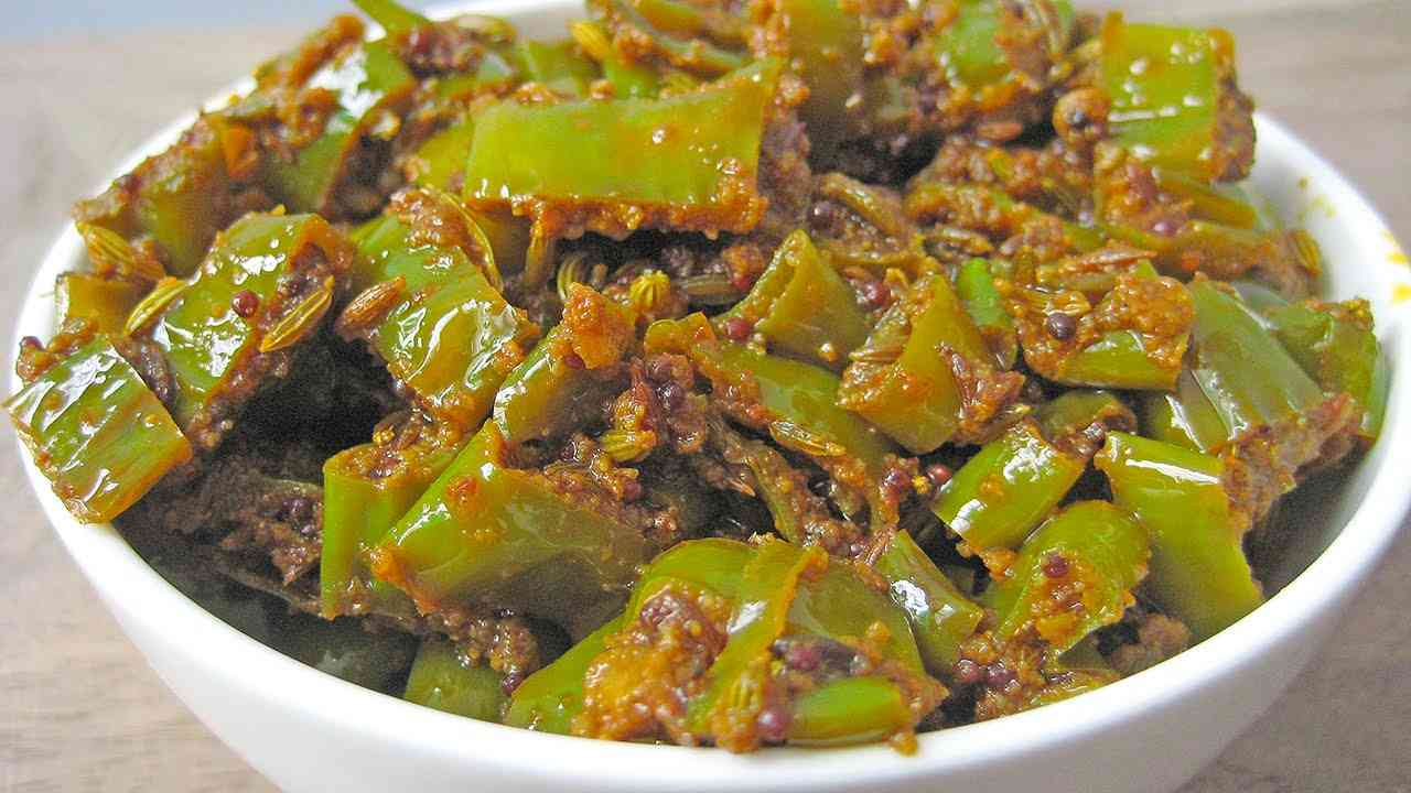 mirch ke tipore chilli pickle