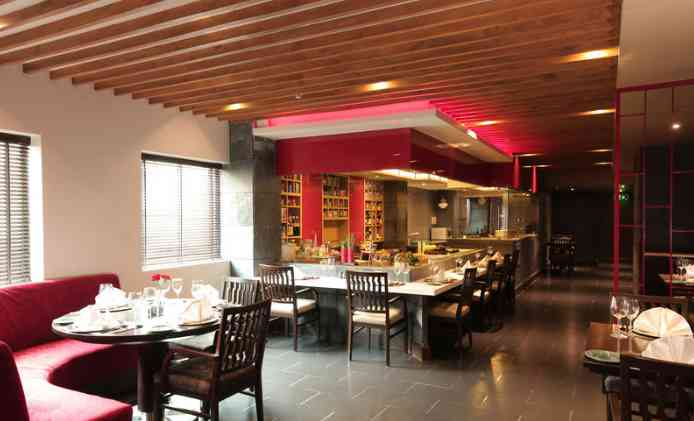The Atsui Pan Asian restaurant at Radisson Blu Jaipur- Ambiance