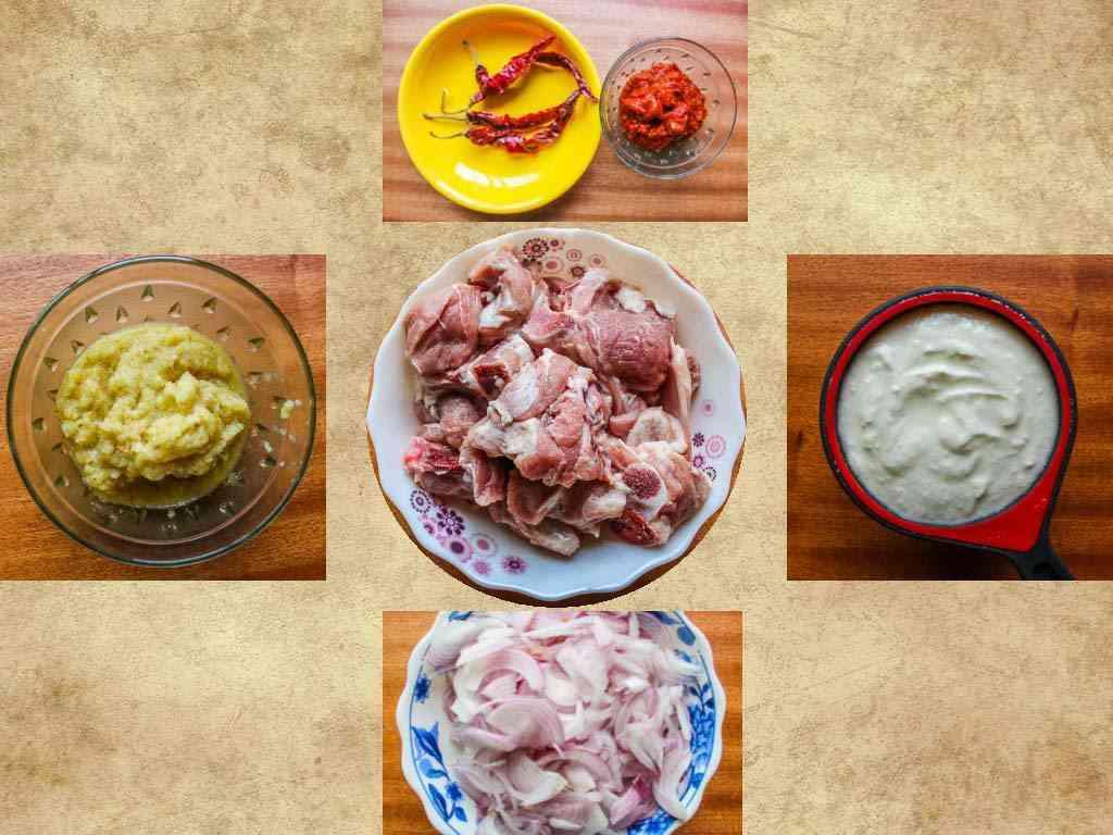 ingredients for Laal Maans
