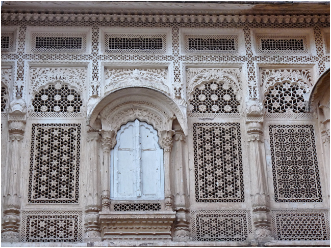Fretwork closeup Mehrangarh fort Jodhpur