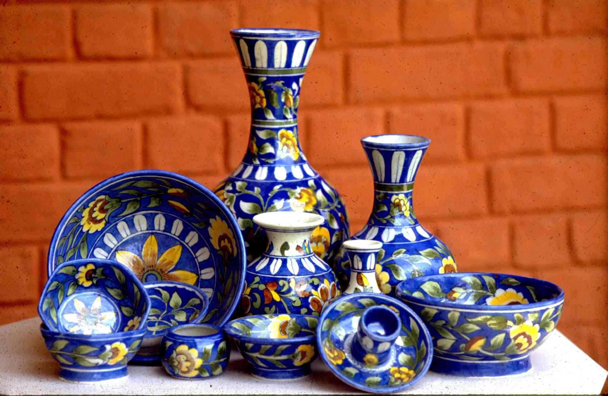Blue Pottery Utensils