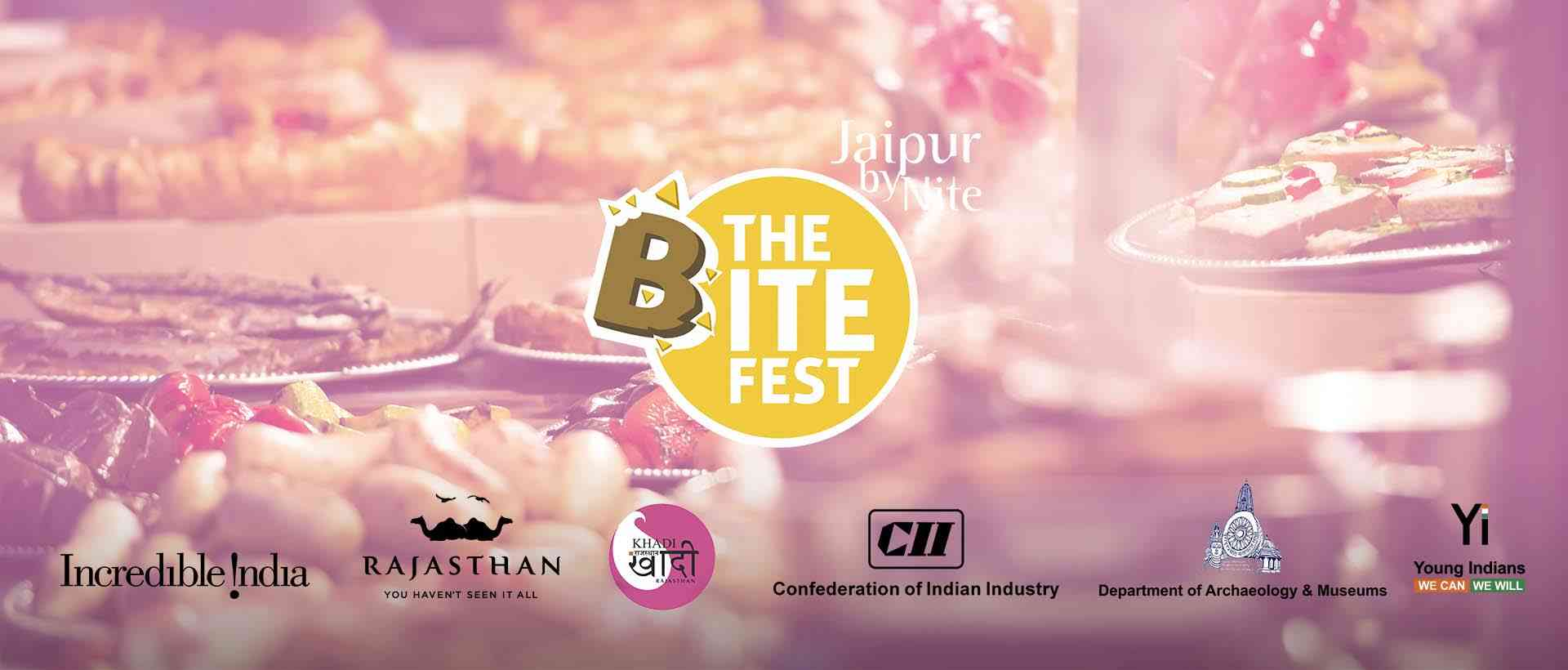 "Jaipur's biggest food festival ""The Bite Fest"" on 15 September 2017 at the magnificent City Palace Jaipur."