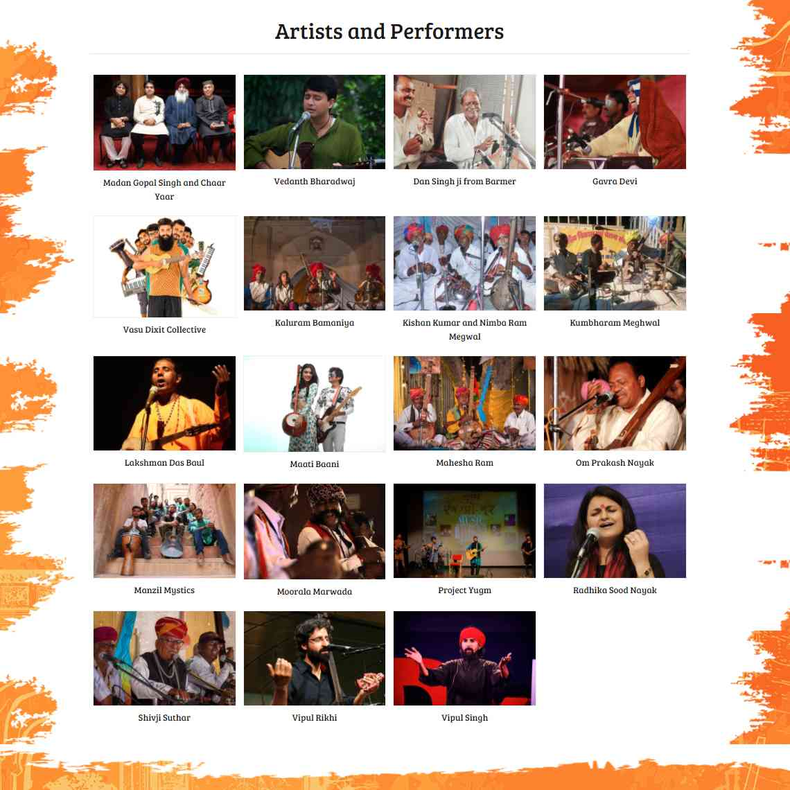 Rajasthan Kabir Yatra 2017 - Artists and Performers