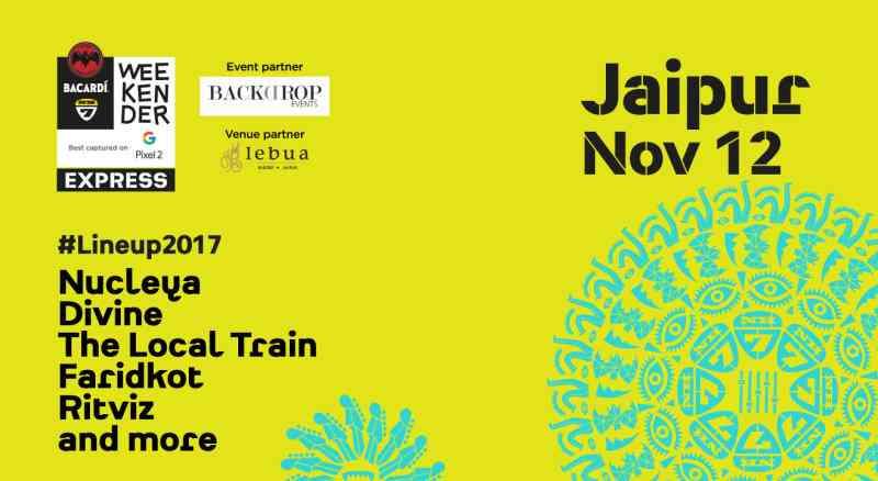 bacardi nh7 weekender 2017 jaipur line up
