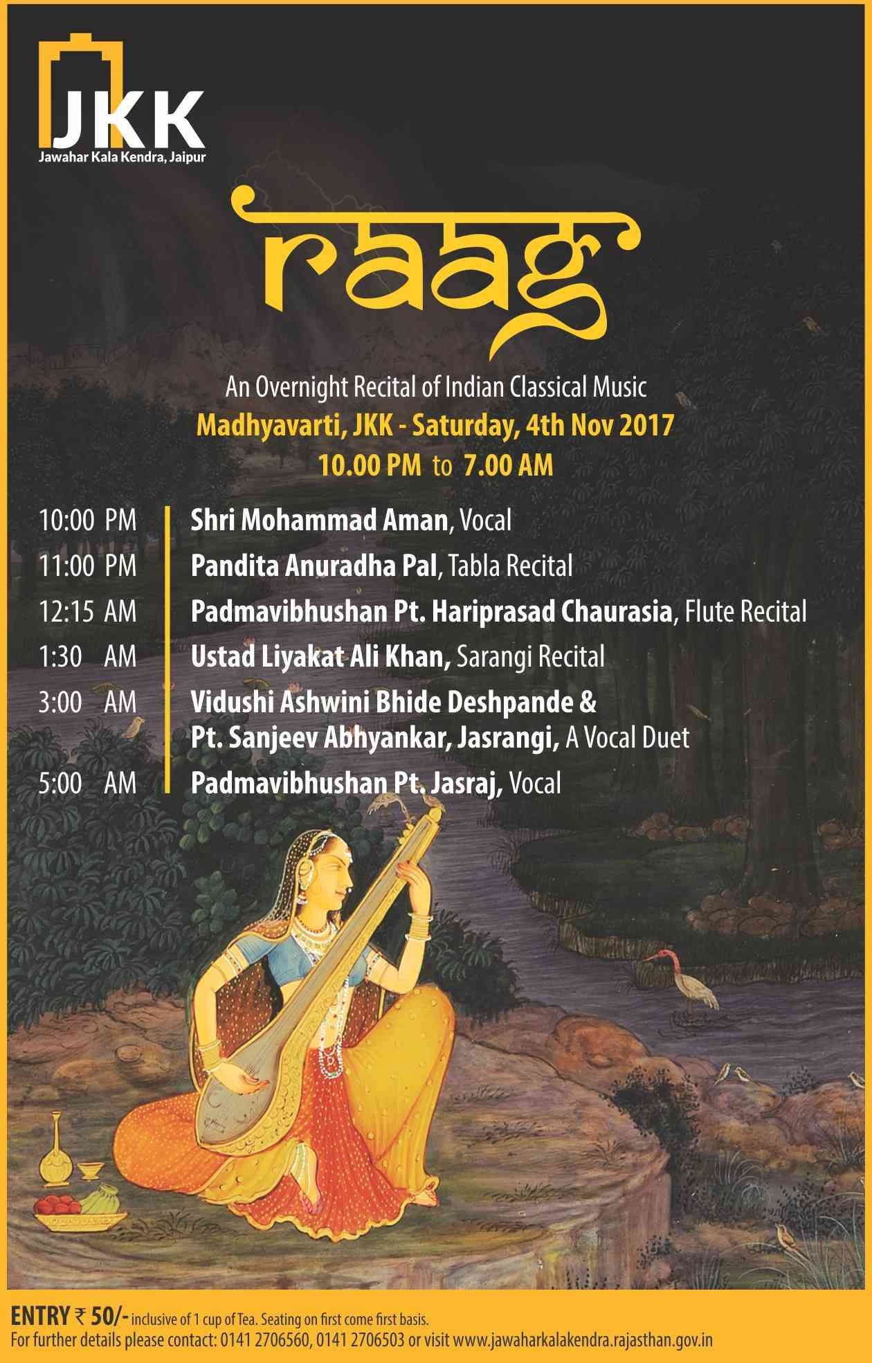 RAAG : An Overnight Indian Classical Music Concert