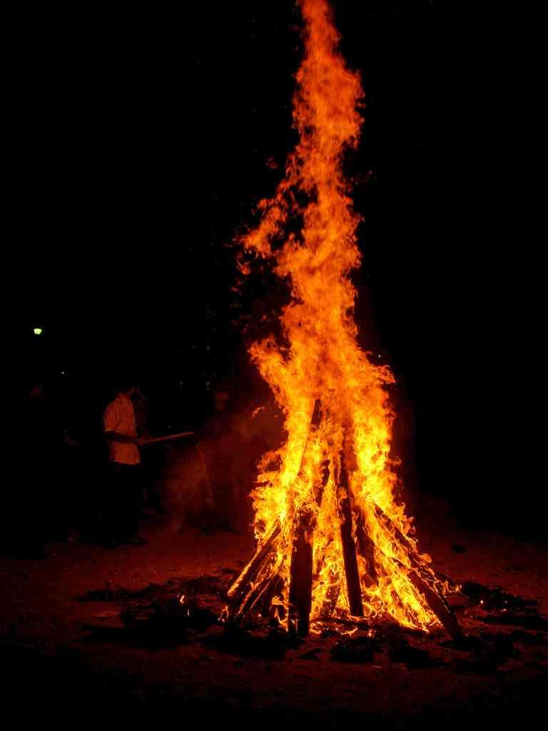 The Lohri Bonfire